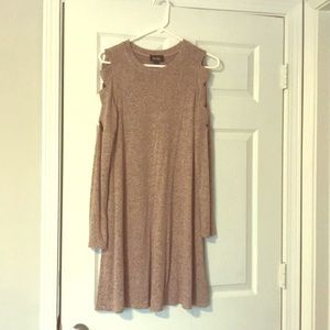 Pink speckled knit dress